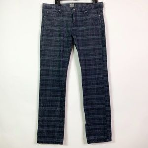 Naked & Famous Jeans Men's 42x35 Check Twill Raw